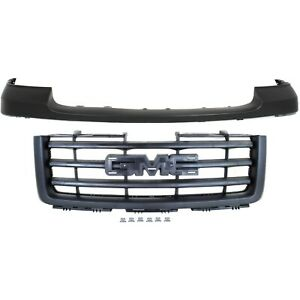 Bumper Cover Kit For 2007 2013 Gmc Sierra 1500 Front 2pc Primed With Grille