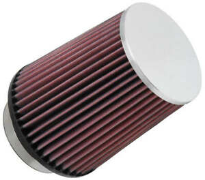 3 5 K n Rc 4630 Universal Chrome Round Cone Air Filter Replacement Open Box