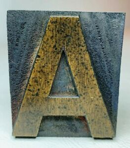 Letter A Letterpress Wood Print Type Multiples Available 2 X 1 11 16 Inches