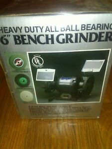 6 Bench Grinder heavy Duty All Ball Bearing Brand New Unopened