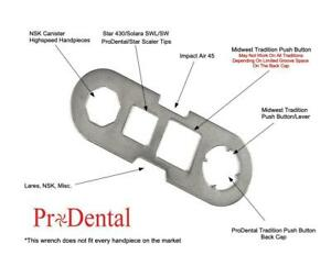 Universal Back Cap Wrench For Star midwest lares nsk impact Air Dental Handpiece