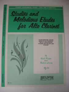 Studies and Melodious Etudes for Alto Clarinet Sheet Music Book Student Course