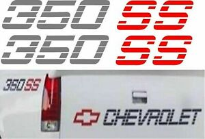 350 Ss Truck Stickers Decals Any Colors Two Decals Silverado 4x4 Chevrolet Chevy