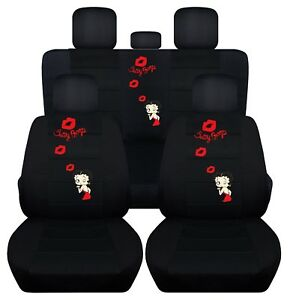 Car Seat Covers Fits 2018 Nissan Sentra Solid Black Front And Rear Seat Abf