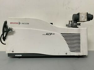 Adixen Pfeiffer Acp 40 Dry scroll 22 Cfm Vacuum Pump Mfg 2019 W 225hrs 110 230v