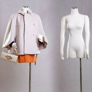 Female Mannequin Dress Form With Flexible Arms And Steel Base