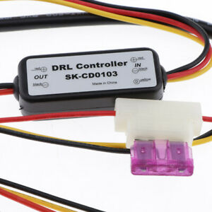Car Led Daytime Running Light Relay Harness Dimmer 5a Auto Drl Controller