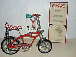 Vintage Coca-Cola Limited Edition Hi-Flyer 60's Bike With COA Die Cast 1:6 Scale