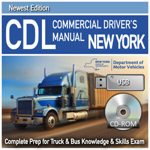 NEW YORK CDL Study Guide Book: Test Manual Commercial Driver License Exam CDUSB $20.00