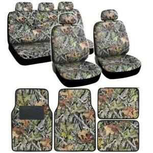 Camouflage Car Seat Covers Floor Mats Steering Wheel Cover Cushion Protector