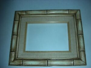 Vintage Bamboo Wood Picture Frame 5 X7 Photo Size Frame Size 9 X11