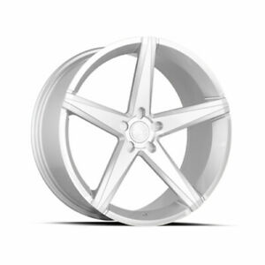 22x9 Concept One Csm02 5x114 3 38 Silver Machined Wheels Rims Set 4