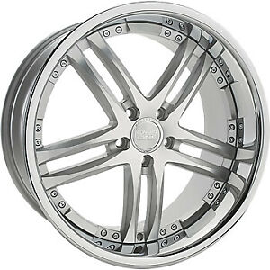 22x9 Concept One Rs55 5x115 18 Silver Machined Wheels Rims Set 4