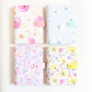 Floral Print Cover Stationary Style Notebook Binder Spiral Organizer Planner New