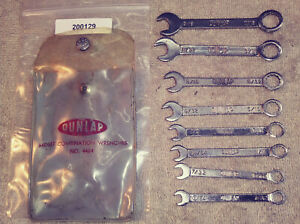 Dunlap Series Vintage Ignition Wrench 8pc Set No 4484 In Pouch Nice