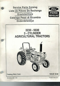 Ford 3230 5030 Tractor Parts Catalog Manual Fnh 17440 3 Cylinder