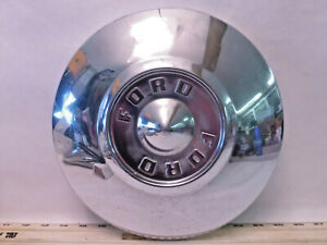Ford 1950 s To 1960 s Truck Fairlane T bird Chrome Dog Dish Hubcap D19