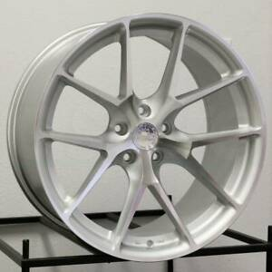 19x8 5 19x9 5 Aodhan Ls007 Ls7 5x114 3 35 35 Silver Machined Face Wheels Rims Se