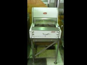 Automatic Bread Slicer Counter top Mdl Berkel Stainless Steel Stand Used