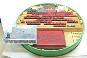 Vintage Fulton Wooden Office Printing Set With Metal Stamp Tray