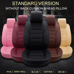 Deluxe Comfort Car Seat Covers 5seat Luxury Cushion Universal Pu Leather Full B