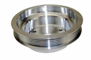 Sbc Chevy 283 400 Machined Aluminum Swp Serpentine Crankshaft Pulley