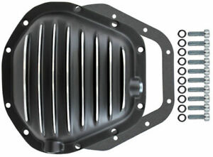 Black Finned Aluminum Dana 60 Rear Differential Cover Mopar Ford Chevy
