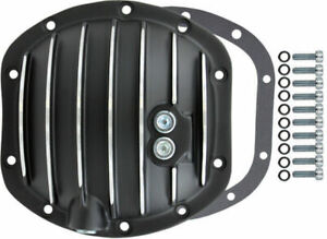 Black Finned Aluminum Dana 30 10 bolt Diff Differential Cover Bronco Cj Mopar