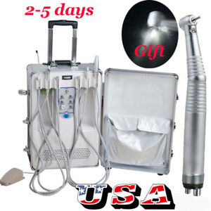 Usa Portable Dental Mobile Delivery Unit Compressor Scaler Curing Light Syringe