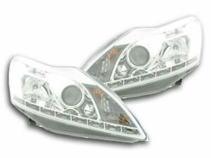 Ford Focus Clear Drl Headlights Headlamps Daytime Running Lights 2 2008 3 2011