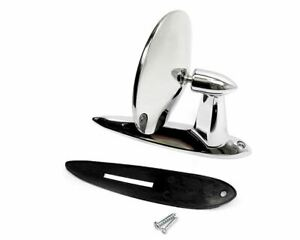 Fiat 124 Spider Exterior Stainless Chrome Rearview Mirror
