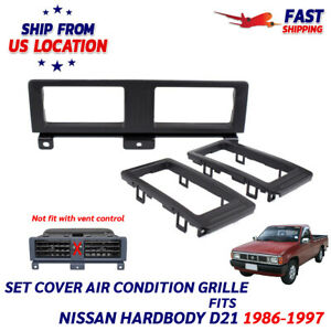 A c Vent Trim Air con Cover Grille Fits 1986 1997 Nissan Frontier D21 Hardbody