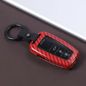 Fit For 2018 2020 Toyota Camry Carbon Fiber Red Remote Key Case Shell Key Cover