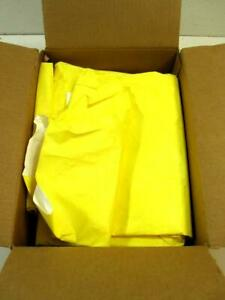 Box Of 3 Dupont Qc120s Tychem Yellow Large Coveralls New