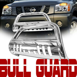 For 04 15 Nissan Titan armada Stainless Bull Bar Push Bumper Grill Grille Guard