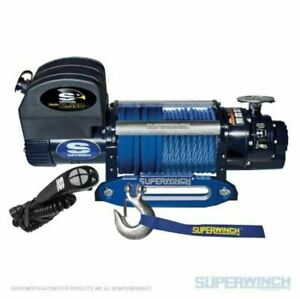 Superwinch 12500 Lbs 12 Vdc 3 8in X 80ft Synthetic Rope Talon 12 5sr Winch