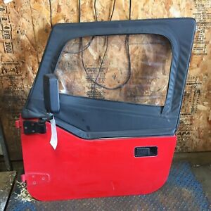 1988 1989 Jeep Wrangler Soft Top L R Doors Complete Oem Pair