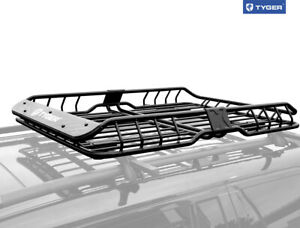 Tyger Heavy Duty Roof Top Cargo Basket Luggage Carrier Rack L57 5 xw42 xh6