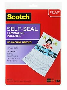 3m Ls854 10g Self sealing Laminating Pouches Letter ls85410g
