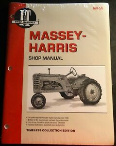 I t Massey harris Tractor Service Manual New 21 23 33 44 55 555 Mh 5a