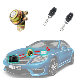 Dc 12v 24v Copper Car Battery Switch Remote Control Disconnect Latching Relay