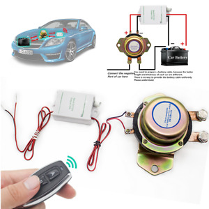 Car Wireless Remote Control Battery Switch Disconnect Latching Relay Anti theft