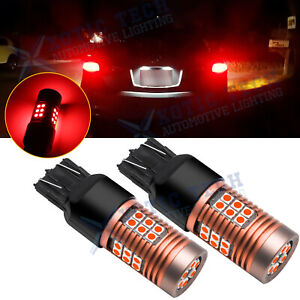 Red 7443 7440 Led Brake Tail Light Bulbs For Honda Accord Civic Cr V 10th Gen