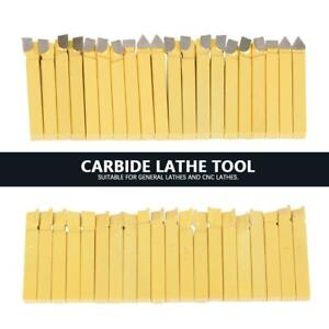 20 Pcs Carbide 3 8 Tipped Cutter Tool Bit Cutting Set Metal Lathe Tooling New