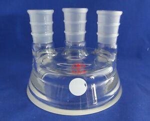Ace Glass Reaction Vessel Lid 3 Neck Cover All 24 40 With A Flat Flange