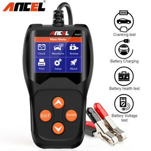 Automotive 12v Car Battery Load Tester Digital Analyzer Cranking Charging Tester