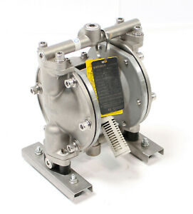 Yamada Dp 10bst Air Powered Double Ptfe Diaphragm Aodd Pump 3 8 Stainless Steel
