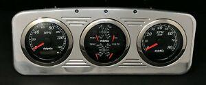 1935 1936 Chevy Car 3 Gauge Gps Dash Panel Set Quad Style Black