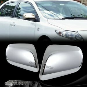 Chrome Abs Plastic Side Mirror Cover Covers Cap For 2004 2009 Toyota Prius