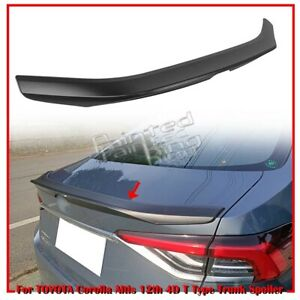 19 20 For Toyota Corolla Altis 12th 4d T Style Rear Trunk Boot Spoiler Unpainted